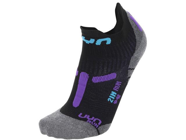 "UYN 2"" Running Socks Women, black/violet"
